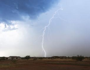 A Bolt of Lightning in a Rural Neighborhood