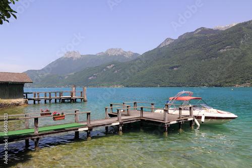Leinwandbild Motiv Le lac d'Annecy