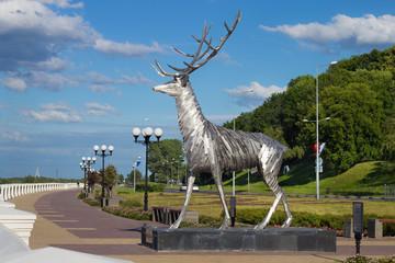 Олень - символ города Нижнего Новгорода.