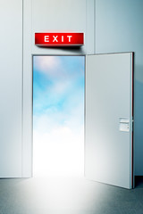 Exit door to heaven