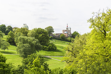 Royal Observatory and Greenwich park, London