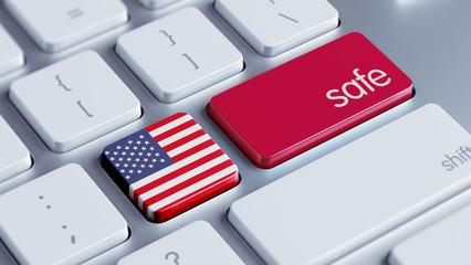 United States Safe Concept
