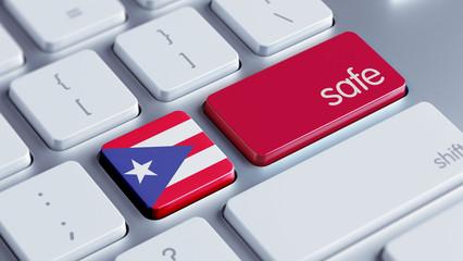 Puerto Rico Safe Concept