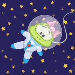 Frog astronaut