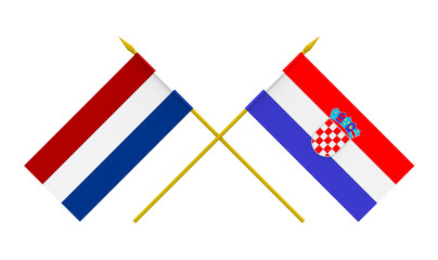 Flags, Croatia and Netherlands