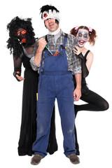 drei lustige Halloween Kreaturen