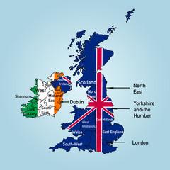 Landkarte der britischen Inseln