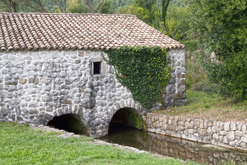 Old stone water mill