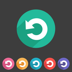Flat game graphics icon repeat