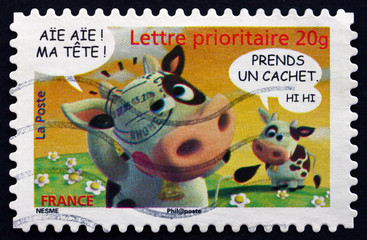 Postage stamp France 2007 Cows, Animated Characters