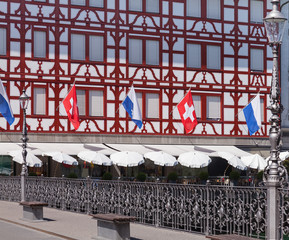 Flags in Lucerne