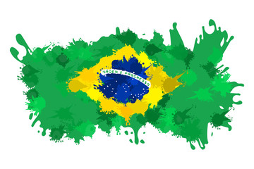 Brazilian splash flag