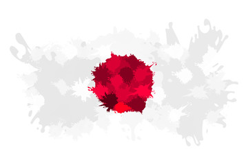 Japanese splash flag