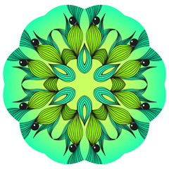 green and blue mandala