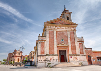 ancient church in Longiano, Emilia Romagna, Italy