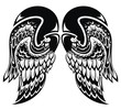 Angel wings.Tattoo wings