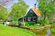 House at the historic village of Zaanse Schans, Netherlands