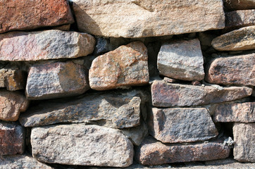 Colored stones and rocks, stacked. Close-up