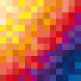Vector background seascape mosaic