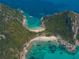 Limni beach in Paleokastritsa, Corfu Greece v