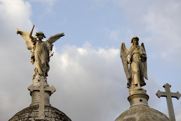 Angels at the cemetery