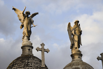 Angels at the Recoleta cemetery, Buenos Aires