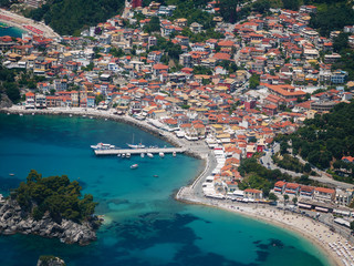 Aerial landscape of Parga Greece