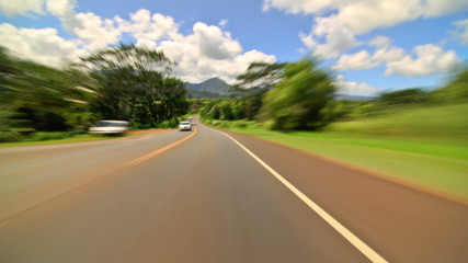 Driving Time Lapse In Kauai