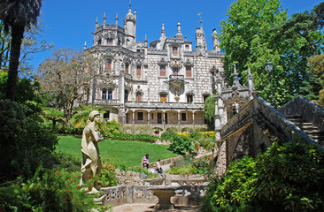 palace Regaleira and beautiful garden in Sintra,Portugal.