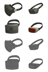 set of Virtual reality devices