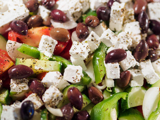 Fresh Greek salad at the restaurant
