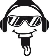 Party DJ Musik Kopfhörer Brille