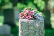 Leinwanddruck Bild - Headstone in Cemetery