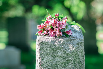 Headstone in Cemetery