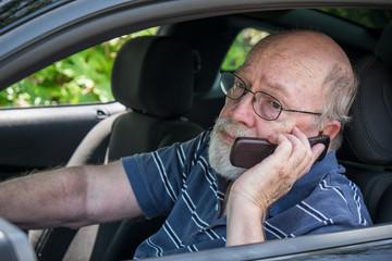 Hot, Sweaty Senior Man Calls for Roadside Assistance