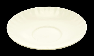 white empty plate over a black  background