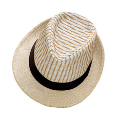 Weave hat isolated on white background, Pretty straw hat isolate
