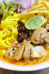 Khao Soi, Northern Thai Noodle Curry Soup.