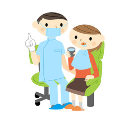歯医者と女性