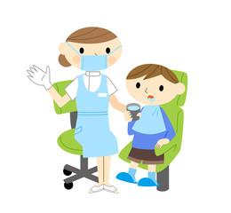 歯科助手と子供