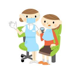 歯科助手と女性