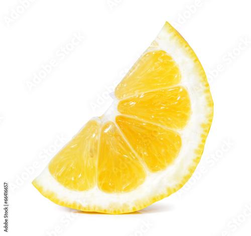 Foto op Aluminium Vruchten lemon slice isolated on white
