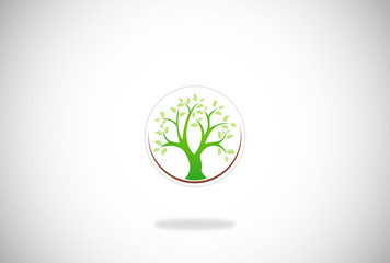green tree vector logo