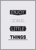 Projektowanie plakatów typograficznych - Ciesz się małymi rzeczami