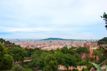 Barcelona, Spain at summer.