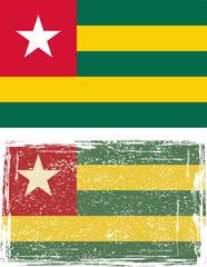 Togo grunge flag. Vector