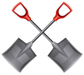 Two shovels