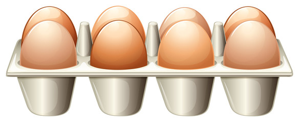 A tray with eggs