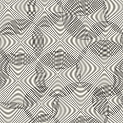Abstract seamless pattern of rings. Vector