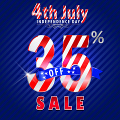 4th july Independence Day sale,35% off sale - vector eps10